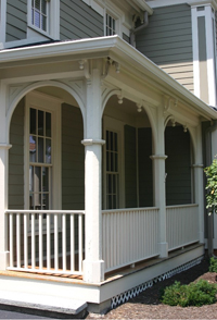 Howard House Arched Porch Supports